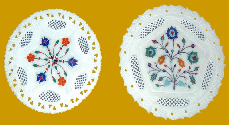 Buy Marble / Soapstone Inlay Plate, Decorative plate