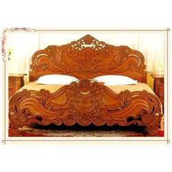 Wooden Carved Double bed — Buy Wooden Carved Double bed, Price ...