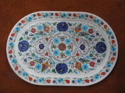 Buy Marble Inlay Art Tray