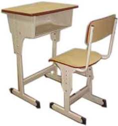 Height Adjustable Single Desk & Chair