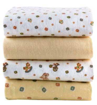 Kushies 2 Pack Receiving Blankets - Blue Print - Kushies
