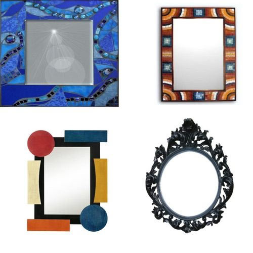 decorating mirror frame