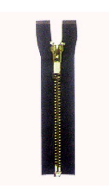 Buy Nickel Brass Zipper