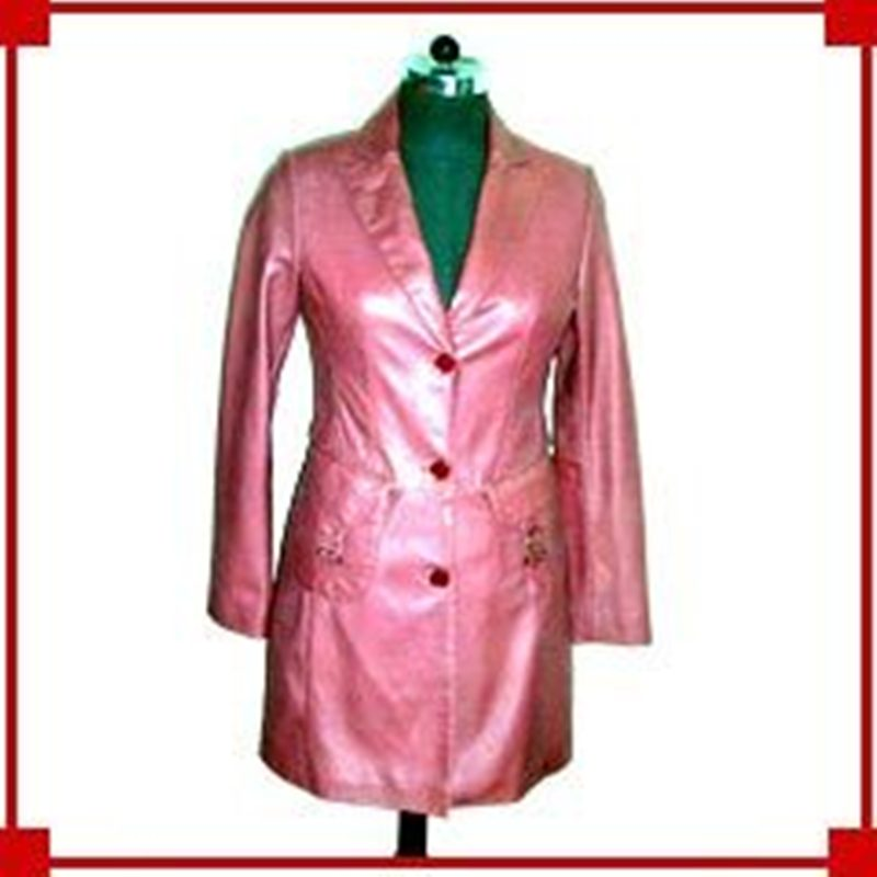 Pink Leather Coat — Buy Pink Leather Coat Price  Photo Pink