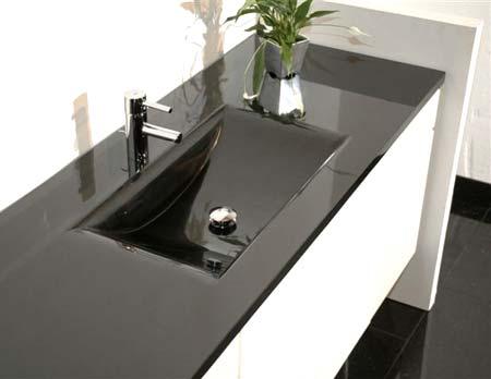 Black Granite Bathroom Sink