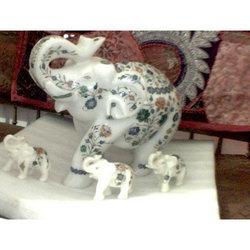 Buy Marble Inlay Elephants