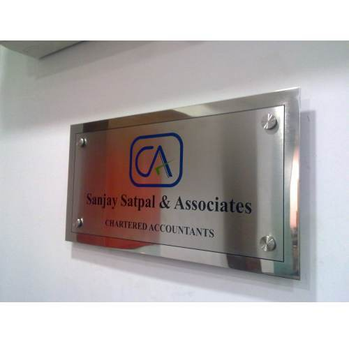 Buy Stainless Steel Sign Boards (C)