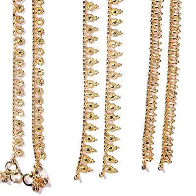 gold jewelry com beads dp chain infinite anklet bracelet layered foot amazon sequin beach zealmer