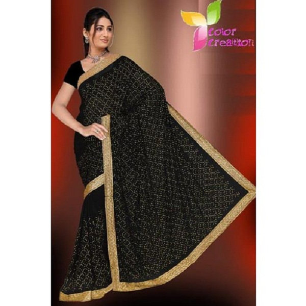Sarees Border Border Embroidered Saree