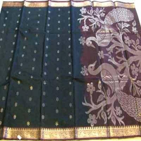Kora Silk With Jari Work Sarees