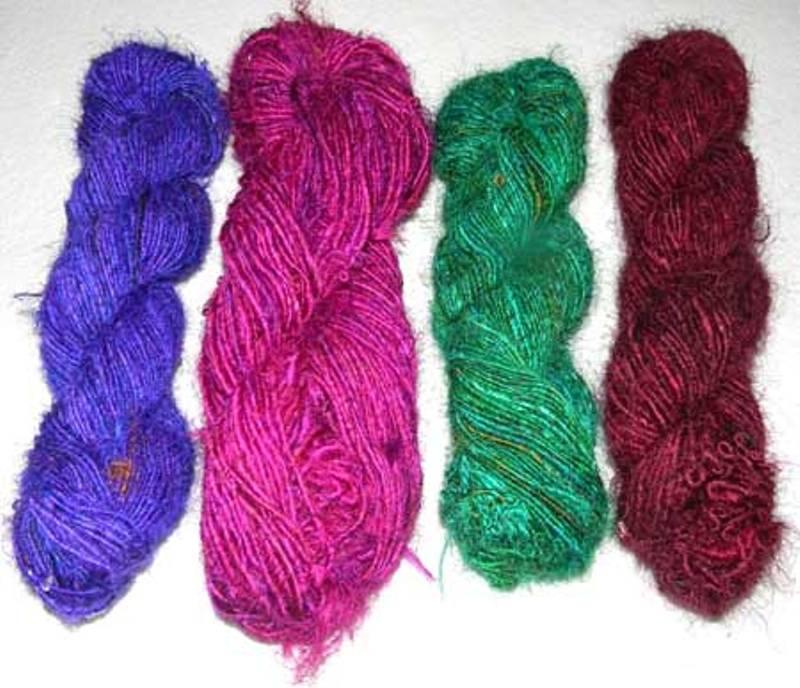 Buy Recycled Silk Yarn