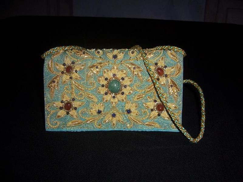 Buy Zari Embroidered Purse