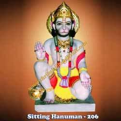 Buy Sitting Hanuman -206