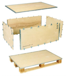 Buy Collapsible / Foldable / Nailless Plywood Boxes - 6 Pieces