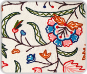 Buy Crewel Hand Embroidered Wool on Cotton Bedspread