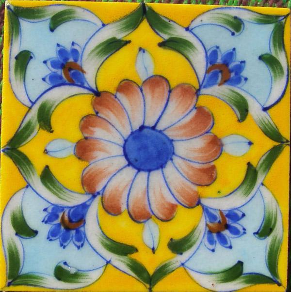 Jaipur Vintage Handmade Blue Pottery Tiles