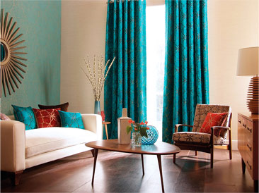 Etonnant Living Room Curtains Blue. Living Room Curtains Blue