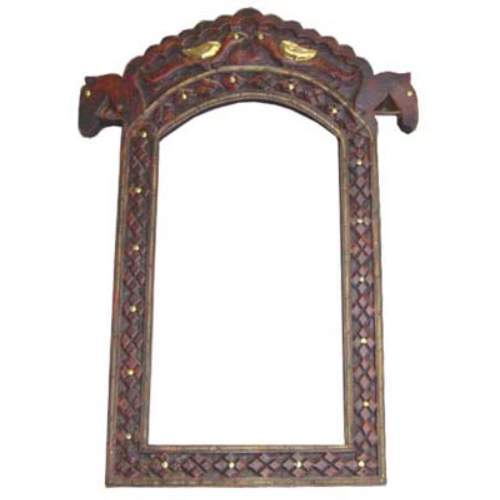 Buy Wooden Mirror Frames, Horse Photo Frame Carving & Brass Worked
