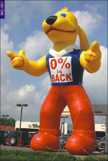 Buy Inflatable figures Yellow Tall Dog