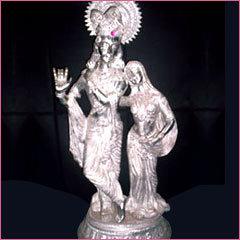 Buy Silver Radhe Krishna Statue