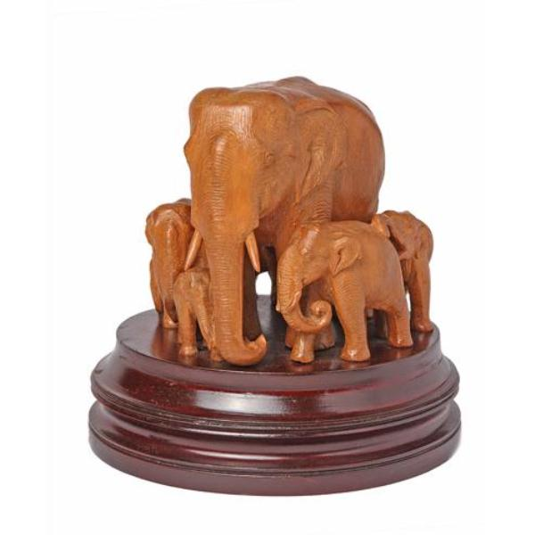 Buy Elephant with cubs statuette