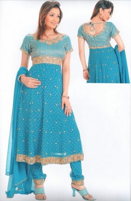 Another popular attire of women in India is the salwar-kameez. This dress evolved as a comfortable and respectable garment for women in Kashmir and Punjab