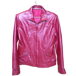 Pink Ladies Leather Jackets for sale in Mumbai on English