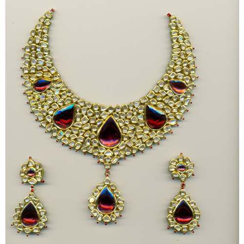 Buy Red Gold Jewellery Set