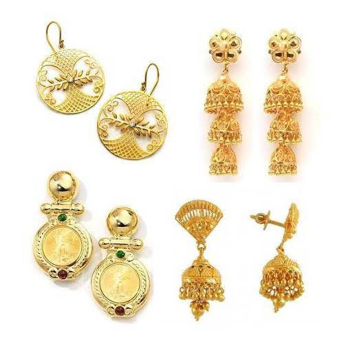 Earring Gold With Price Temple Jewellery Earrings Jhumkas In 22k