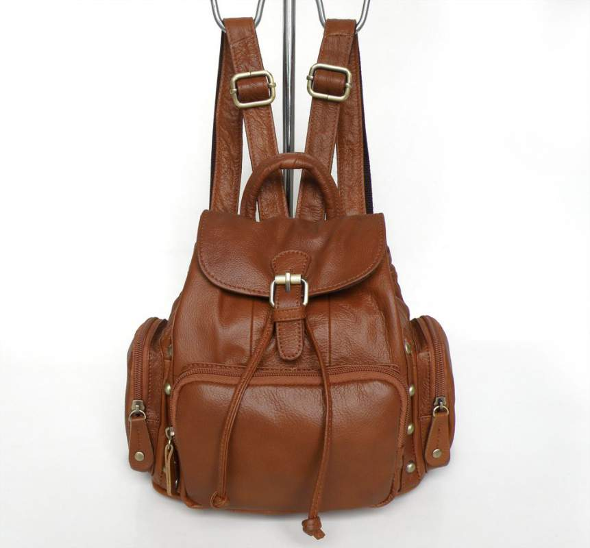 Leather backpack bags india
