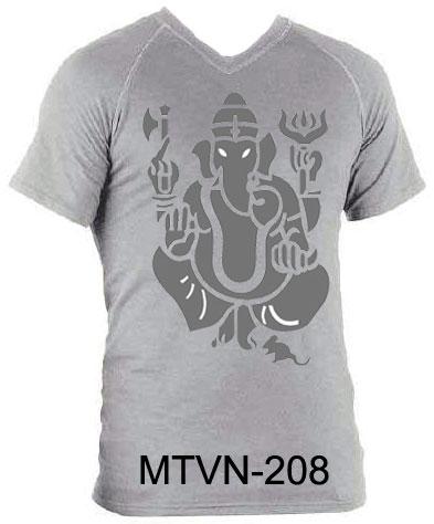 Buy Printed V Neck T-Shirts