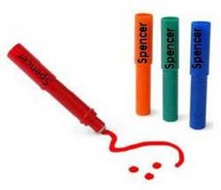 Ручка-маркер пластик ms-r красный