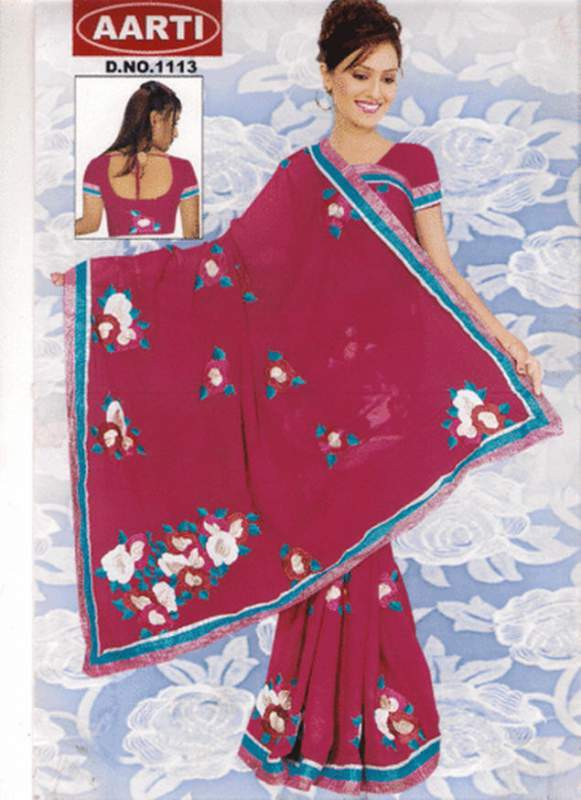 Resham Embroidery Sarees  Buy Resham Embroidery Sarees