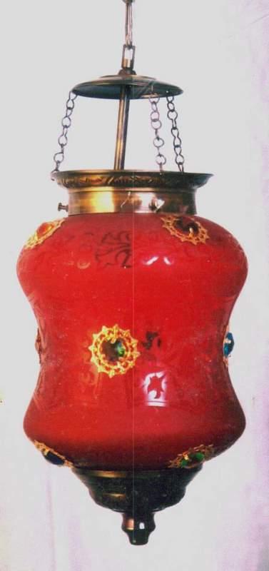 Buy Glass Dholak Shape Lamp