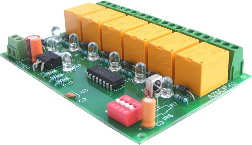 Buy 6 channel IR Remote Relay Board