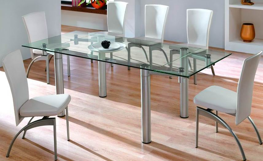 Glass Top Dining Table Set — Buy Glass Top Dining Table Set, Price ...