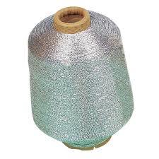 Buy Metallic Yarn Mix silver colored