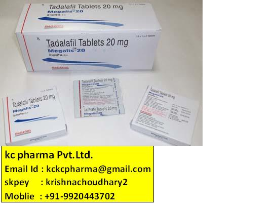 Megalis-20Tabs. Kc pharma Pvt.Ltd. Export
