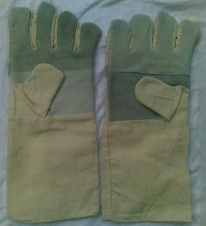 Buy Cotton cum Leather Gloves