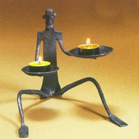Wrought Iron Candle Stands