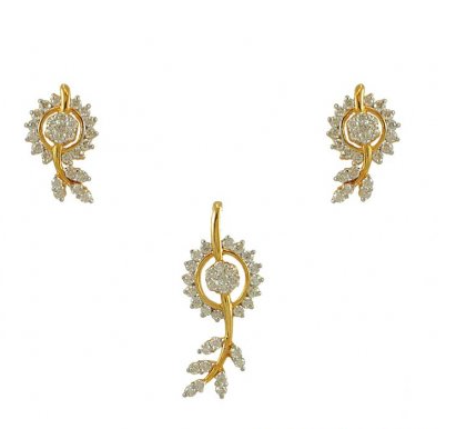 Indian diamond pendant set buy in kolkata indian diamond pendant set aloadofball Choice Image