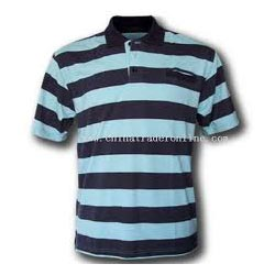 Mens Striped Polo T Shirts