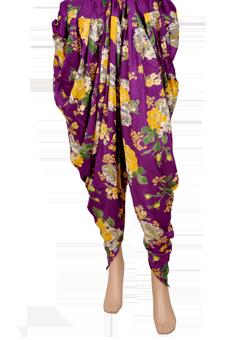 Buy Purple based rayon dhoti