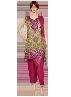 Buy Silk salwaar suit