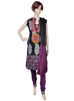 Buy Cotton Full Suit with Applique Work