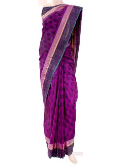 Buy Cotton saree with zari border