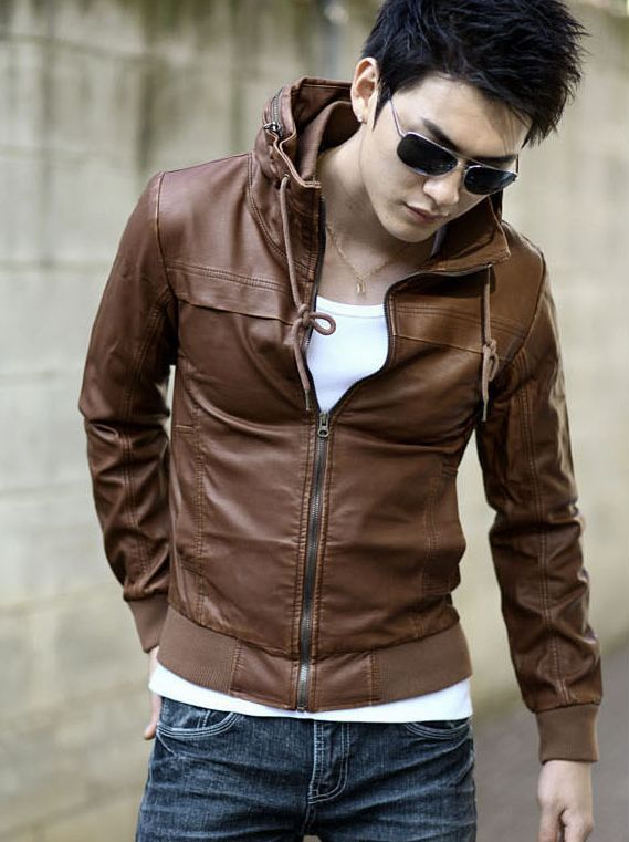 Leather man jacket for sale in Okhla on English
