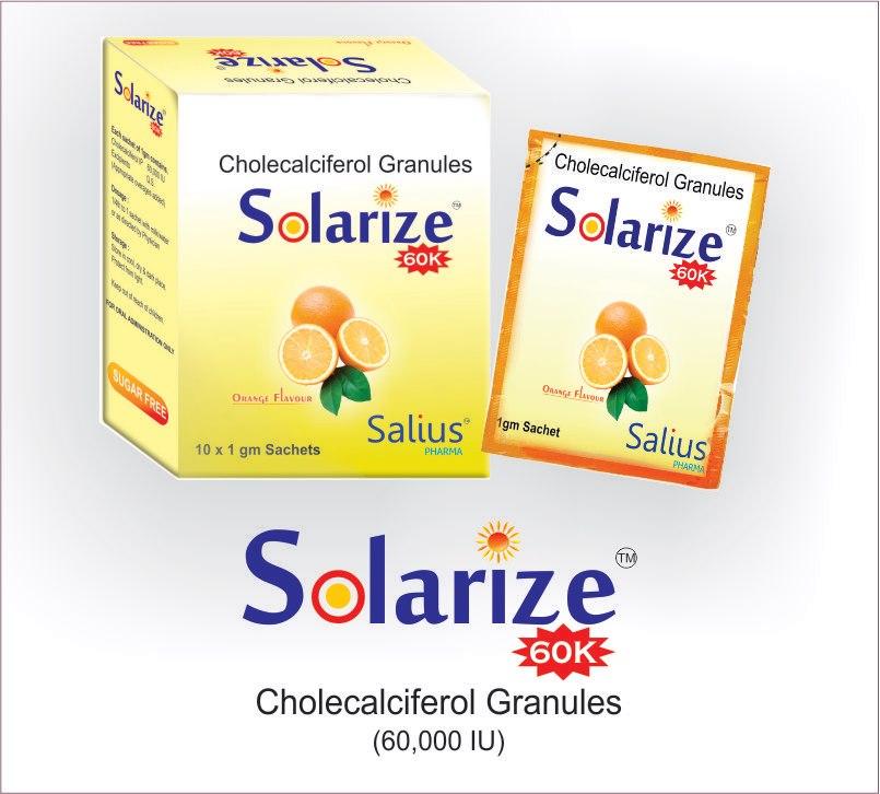 Buy Solarize (Cholecalciferol granules 60k / oral drops 2k)