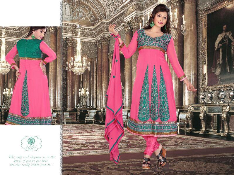 Buy Designer Embroidered Churidar Suits