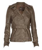 Ladies Leather Belt Jackets